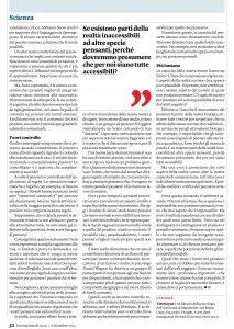 Parution dans le magazine INTERNAZIONALE – Italie.