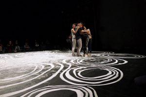 Octobre 2017 - SPECTACLE LET'S FOLK! – En collaboration avec la chorégraphe Marion Muzac. En dessinant à même les tapis de danse, la plasticienne Emilie Faïf met en valeur la notion de territoire et d'encrage dont s'inspirent les danses populaires.