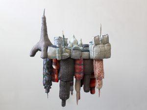 """""""Paris-New York"""", textile sculpture."""
