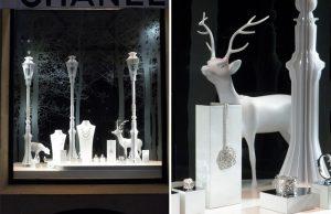 December 2011 – CHANEL – Christmas window decor, Paris boutique.