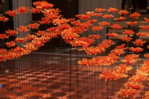 September 2014 – « Flowers of Paris » installation at the Royal Monceau from September the 1st – Octobre the 2nd 2014 on the occasion of the Paris Design week.