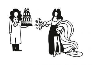 Illustrations déssinées par Ich&Kar pour le livret »Crème de la Crème : European cream and European pastries» édité par le CNIEL et la Commission Européenne dans le cadre du programme «Cream of Europe».