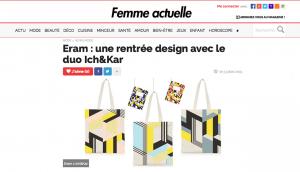 Ich&Kar pour Eram, Femme Actuelle, Juillet 2015
