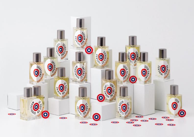 Bouteilles de parfum État Libre d'Orange.