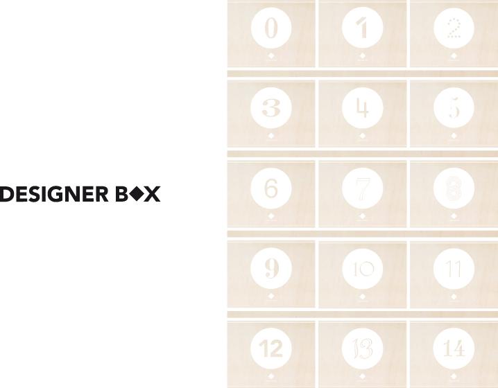 Ich&Kar dessine l'identité globale de DesignerBox. Entre le logotype, le packaging et le site internet, une création d'univers qui met à l'honneur l'esprit de collection et le plaisir d'offrir.