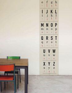 Papier peint «AEIOU», Collection Watch, Look & Learn