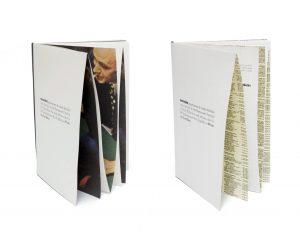 Mourad et Achim Mazouz ont laissé carte blanche à Ich&Kar pour trouver le nom du restaurant et imaginer un jeu graphique pour les menus imprimés pliants. L'attente des mets devient ludique et pédagogique : derrière les menus, on peut trouver imprimés une page d'annuaire, une image vintage ou une gravure !