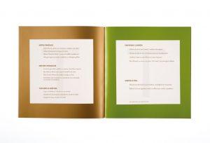 Chaque menu est imprimé dans cette harmonie de couleurs gourmandes. En ouverture une photographie de Bernard Plossu ouvre le bal des festivités.