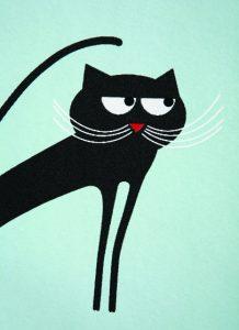 Papier peint «Cats», Collection Phosphowall – papier peint à encre phosphorescente. Ich&Kar's Phosphowall a été élu lauréat du Wallpaperlab 2008