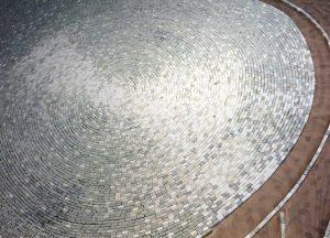 Nouveau projet 2018 – Work in progress – Création d'un sol en mosaïque de marbre… à suivre !