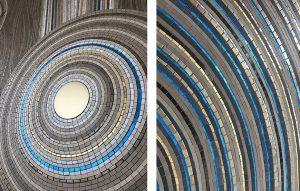 Le thème central de cette création est la culture des artistes aborigènes d'Australie. Elle explique les origines de leur monde, de leur pays et de ses habitants. La juxtaposition des tesselles d'or jaune et turquoises brillantes avec le grès cérame mat accentue l'effet de miroitement, de vibration, de trame, de relief, de profondeur et de mouvement visuel.