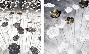 «Jardin d'Hiver» au showroom de Procédés Chénel – scénographie de Soline d'Aboville. Les fleurs développées pour ce projet appartiennent à une collection de fleurs désormais disponible à la demande.