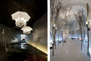 2011 – BaccaraT – baccarat highlights – palazzo Morando – euroluce – Milan. Salon International du Meuble, Baccarat Highlights – Palazzo Morando, Euroluce – Philippe Starck + Le jardin de Yan Kersalé.