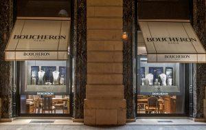 Noël 2016 – Boucheron – place vendôme – Décors de vitrines, réseau international.