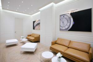 Scénographie de l'Espace de la Maison Boucheron en collaboration avec Guillaume Leclerq, architecte – Baselworld 2013, Bâle.