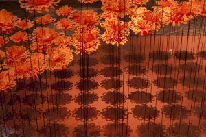 Septembre 2014 – Installation «Fleurs de Paris» au Royal Monceau du 1er septembre au 2 octobre 2014 à l'occasion de la Paris design week