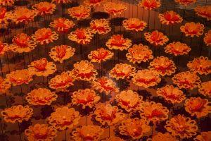 Septembre 2014 – Royal Monceau Raffles ParIs – Fleurs de paris – Installation dans le lobby de l'hôtel.