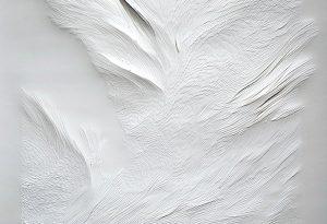 Angèle Guerre, plasticienne, 2016 à 2019, Tendre Texte. Papiers incisés au scalpel. Ce travail au scalpel reproduit instinctivement des gestes immémoriaux. C'est le cuir d'une bête tendue qu'on dépèce, qu'on met en pièce.