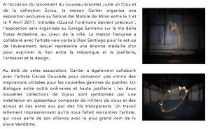L'OFFICIEL ITALIE – Juste un Clou / Ecrou, Cartier. Avril 2017