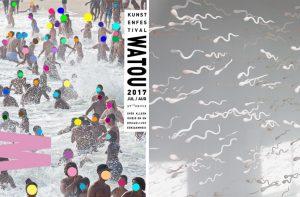 Emilie Faïf, plasticienne, 2017, exposition des œuvres « Spermatozoïdes » et « Mamelles », Festival d'art de Watou, Belgique. Le programme multidisciplinaire réunit des artistes d'horizons variés, dont le parcours se déroule sur onze sites mettant en valeur la symbiose entre la poésie et l'art visuel.