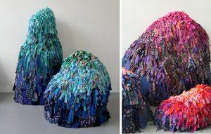 Printemps Haussmann – Fête du Printemps 2019. Ce mois d'avril, Emilie Faïf a été invitée à investir une vitrine du Printemps Haussmann d'une œuvre basée sur le thème du recyclage. Du 4 avril au 9 mai 2019.