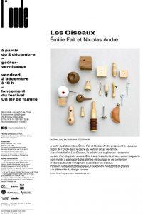 » Les Oiseaux » exposition/atelier de découverte du design sonore pour les 4/11 ans à la Cité du Design et de la Mode.