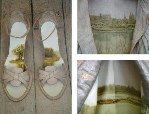 Emilie Faïf, plasticienne, 2006, «Vêtements Paysages», impressions sur vêtements, Isabel Marant.