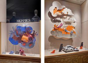 Automne 2016 – Vitrines d'Automne Hermès France 2016, Avenue Georges V Paris.