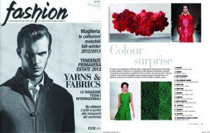 Fashion magazine Italy, fall-winter 2012