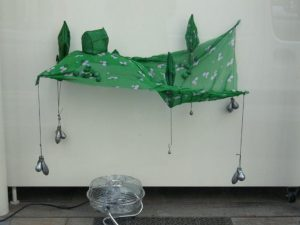 "Emilie Faïf, visual artist, 2008, installation ""Prairie"" for Isabel Marant windows. Dimensions: 85 x 55 cm."