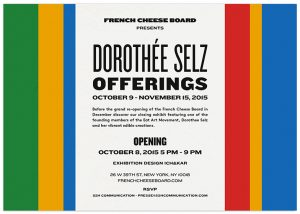 A didactic, playful and colorful retrospective of Dorothée Selz work is told by Ich&Kar.