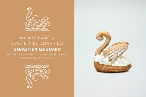'Crème de la Crème : European cream and European pastries'. Swan with whipped cream by Sébastien Gaudard.