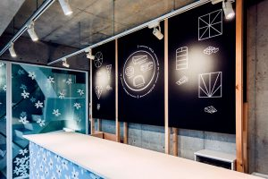 This pop-up store is located in the heart of Shibuya district.