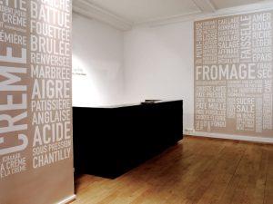 Scenography and communication of the exhibition « Les Mots du Lait » – Milk Factory.