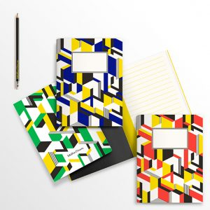 Ich&Kar also designed notebooks using explosive colors and strong geometric patterns.