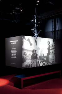 Scenography and graphism of the exhibition « Musique and Cinema » – Cité de la Musique, Paris.