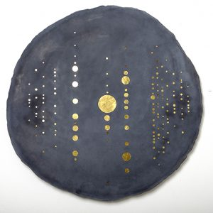«Meteorites II» Exhibition, beaded concrete, Insula Gallery, Paris