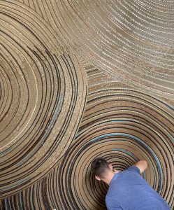 Mathilde Jonquière, mosaic artist, July 2021, work in progress.
