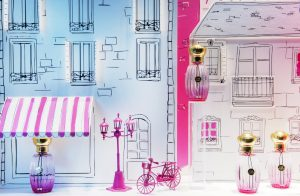 Illustrated in a poetic and playful manner, Paris become the theater of a stroll around the Eiffel tower and the Parc Monceau, via Saint Sulpice and the Place Vendôme.