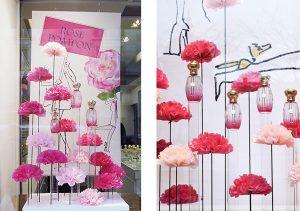 Annick Goutal – Rose Pompon perfume windows.