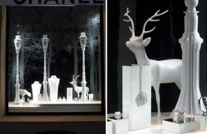 December 2011 – CHANEL – Christmas window decor, Paris boutique.