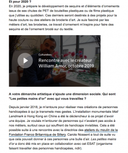 Franceinfo culture, Corinne Jeammet article, October the 27th 2019