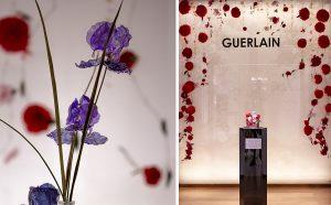 From September 19 to October 29, 2020, William Amor exhibition in the Guerlain boutique, space -1, 68 Avenue des Champs Elysées, 75008 Paris. Details: iris & Mon Guerlain floral set, Bloom of Rose