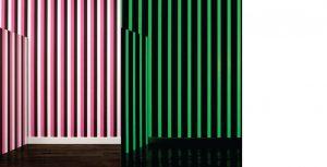Papier peint «Stripes», Collection Phosphowall – papier peint à encre phosphorescente. Ich&Kar's Phosphowall a été élu lauréat du Wallpaperlab 2008