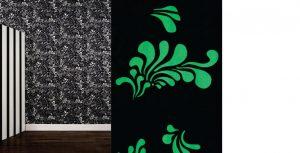 Papier peint «Minipop», Collection Phosphowall – papier peint à encre phosphorescente. Ich&Kar's Phosphowall a été élu lauréat du Wallpaperlab 2008