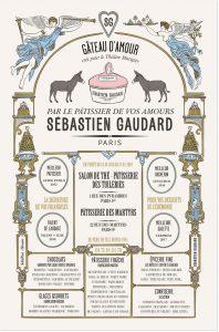 Décembre 2018 : à l'occasion du spectacle Peau d'âne au Théâtre Marigny, Sébastien Gaudard cuisine le fameux gâteau d'amour ! Ich&Kar lui dessine une affiche sur-mesure toute illustrée et pleine d'amour elle aussi !