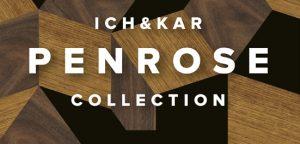 Ich&Kar se prend de passion pour les pavages de Penrose. Les designers trouvent dans cette géométrie une source d'inspiration pour une collection de tables d'appoint, de plateaux, de sacs.