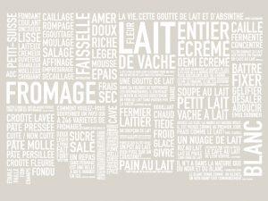 Création du mur de mots pour l'exposition » Les Mots du Lait » – Milk Factory