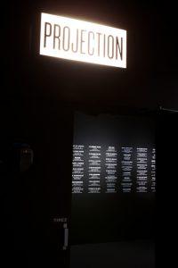 Scénographie et Graphisme de la salle de projection de l'Exposition  » Musique et Cinéma » – Cité de la Musique, Paris