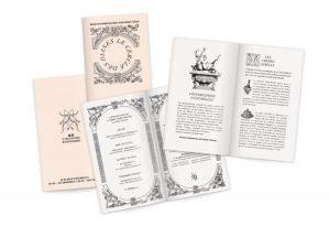 Bibliophiles inspirés, Ich & Kar emprunte l'iconographie à un ouvrage rare et oublié du XIXesiècle « Diane de Poitiers et son château D'Anet ». Plus de 100 vignettes à assembler avec humour et légèreté, faire peau neuve du passé, une figure de style phare du vobulaire d'Ich & Kar !